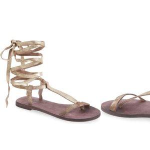 Free People Metallic Sandal
